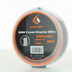 N80 Fused Clapton Wire (NiChrome 26ga*3+36ga) Geek Vape